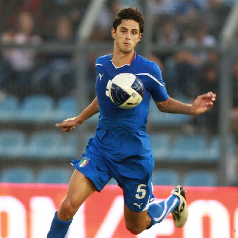 Ranocchia's Italy U21 Match Shirt, 2010 Season