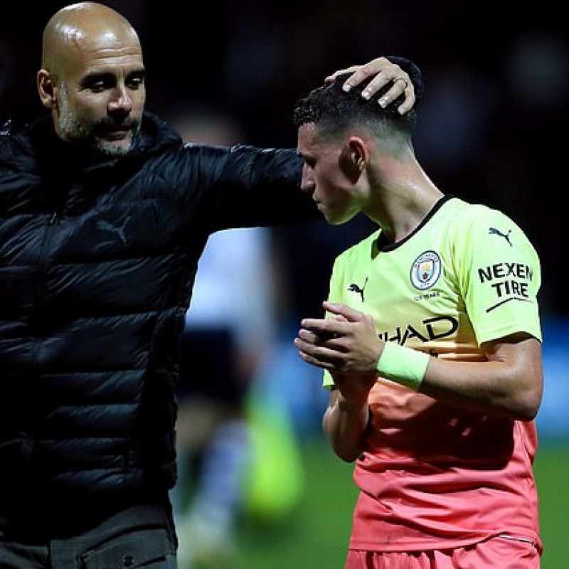 Manchester City 2019/20 PUMA Champions League match issued Third Kit Shirt - Phil Foden
