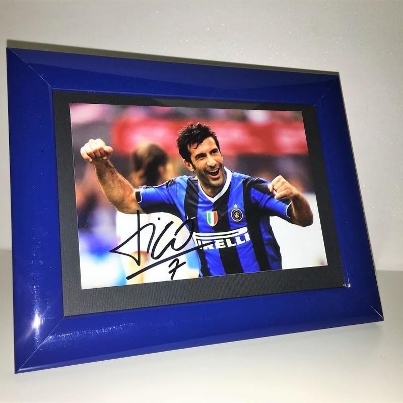 Luis Figo Signed Photograph