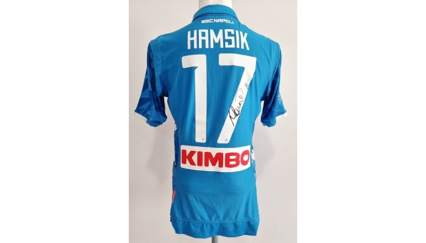 Hamsik's Napoli Worn and Signed Shirt, 2018/19
