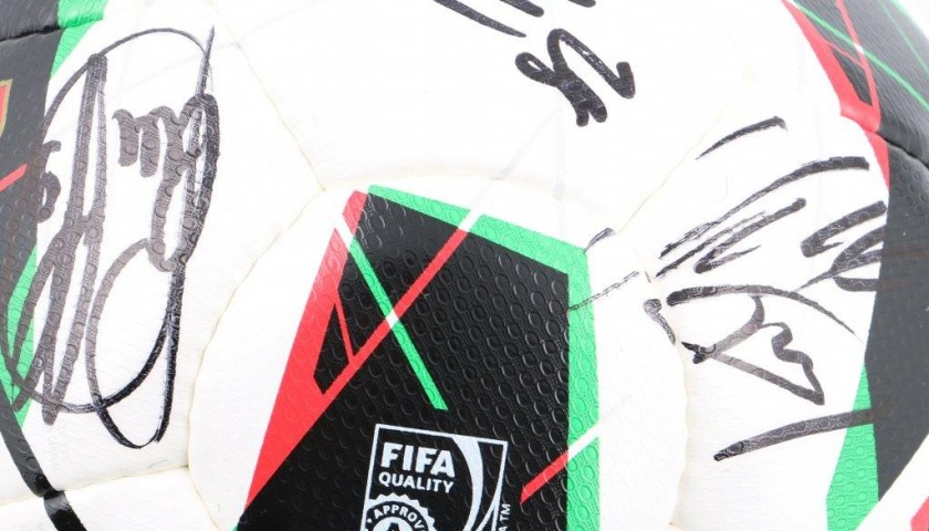 Official match ball Serie A Tim - signed by Juventus players