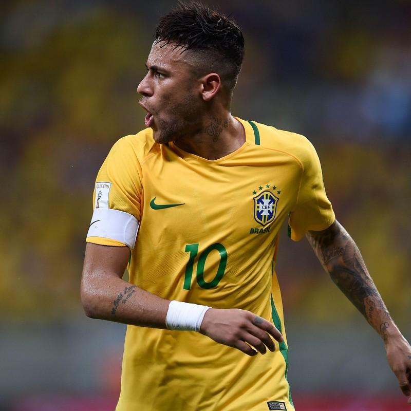 Neymar's Brazil Match Shirt, World Cup Qualifiers 2018