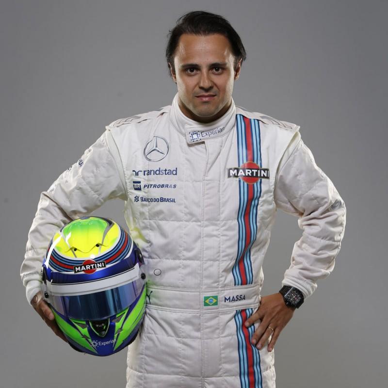 Williams Mini Helmet 2016 - Signed by Felipe Massa
