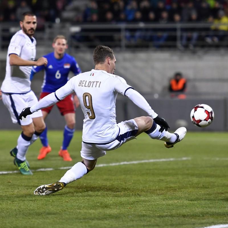 Belotti's Match-Issue/Worn Shirt, Liechtenstein-Italy 2016