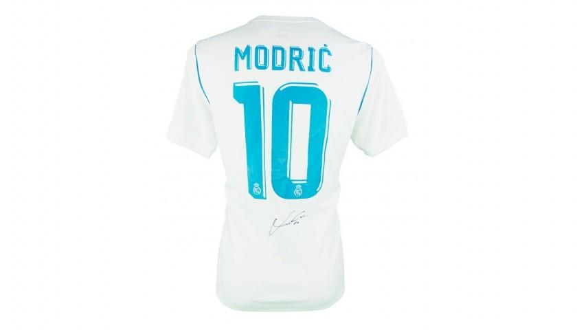 0b94b564e Luka Modric s Official Real Madrid 2017 18 Signed Shirt - CharityStars