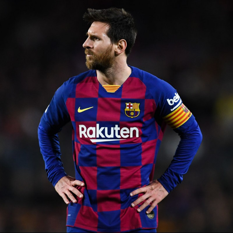 Messi's Barcelona Signed Match Shirt, 2019/20