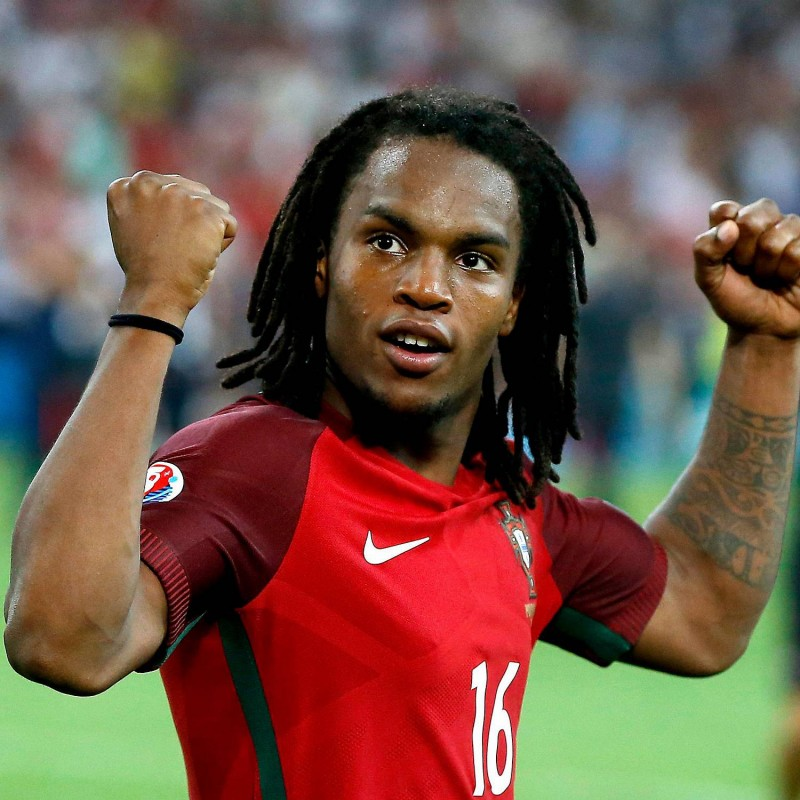 Sanches' Official Portugal Signed Shirt, 2016