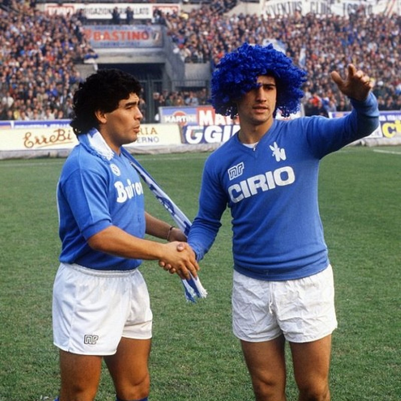 Napoli Training Shirt - Signed by Maradona