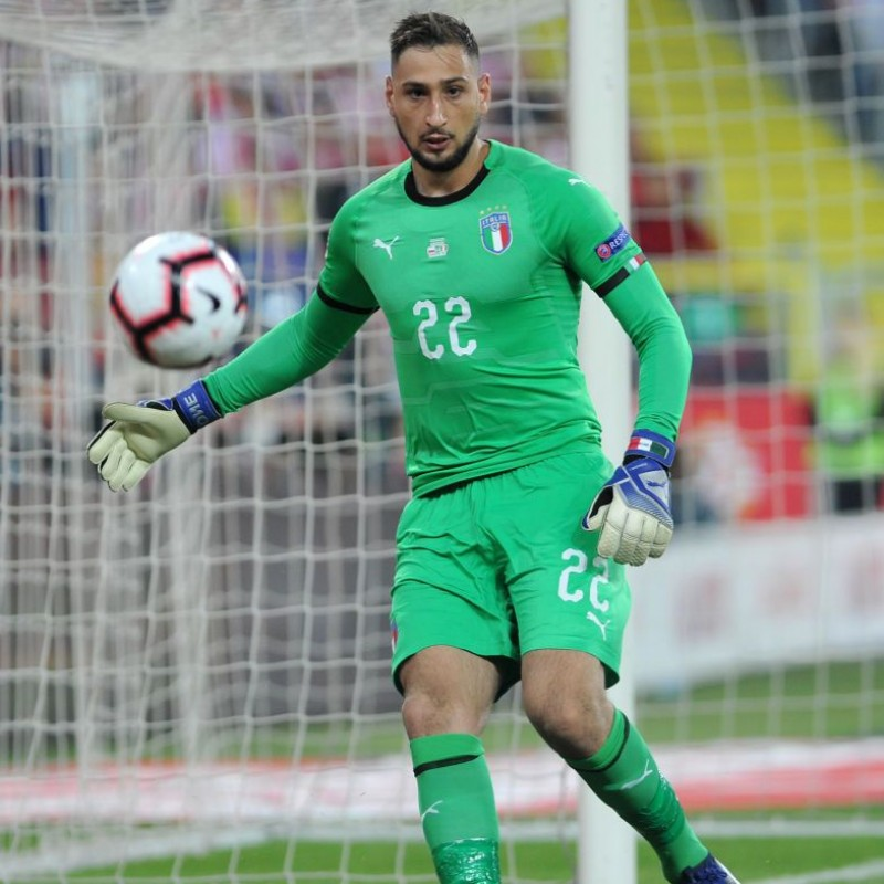 Donnarumma's Match-Issue/Worn Shirt, Poland-Italy 2018