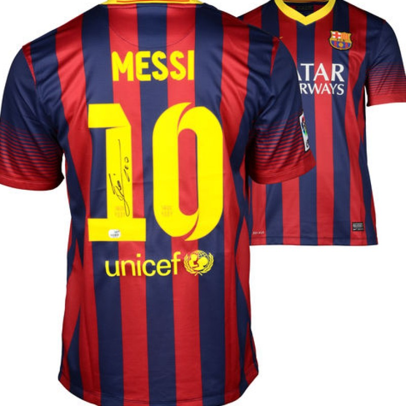 Lionel Messi's Hand Signed Barcelona Shirt