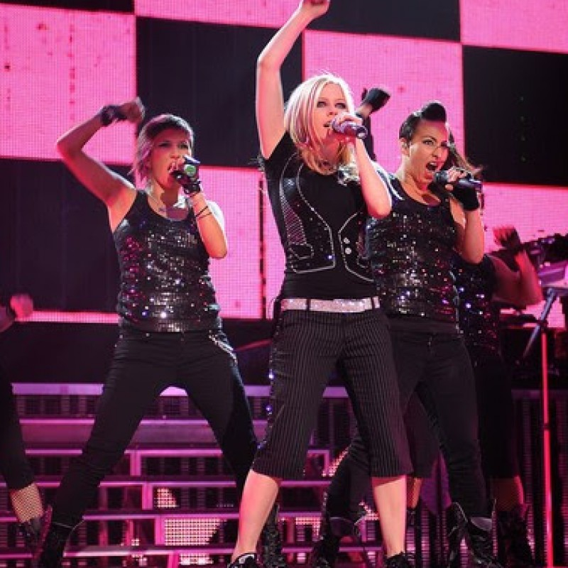 Avril's Dancer Outfit: Black Sequin
