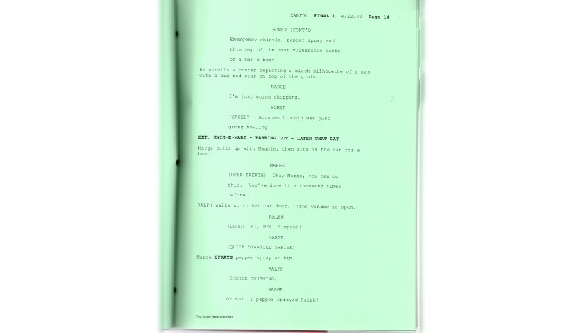 The Simpsons Original Script - The Strong Arms of the Ma