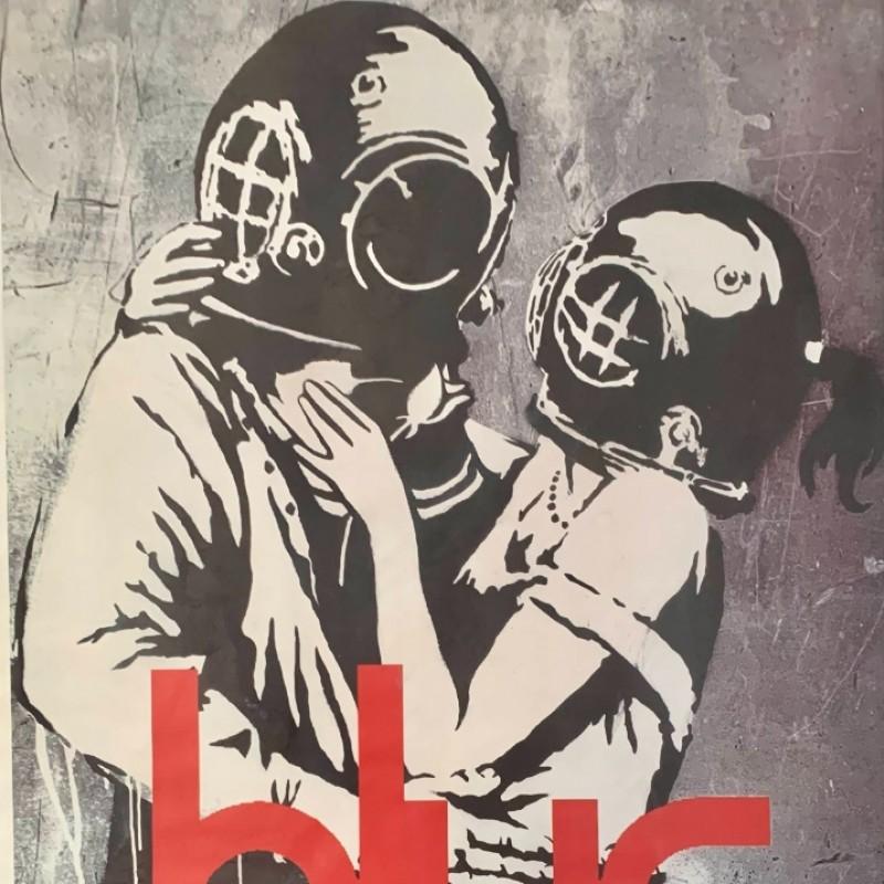 Banksy - Original Poster from 2003 Blur Concert + Ticket