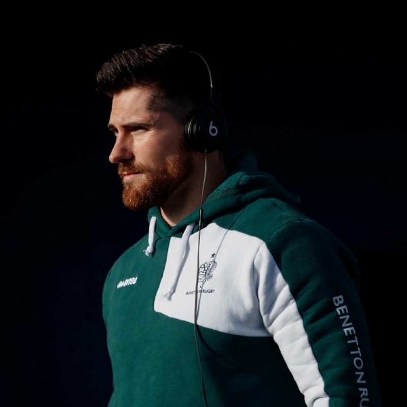 Ian McKinley's Benetton Rugby Worn Sweatshirt, 2017/18