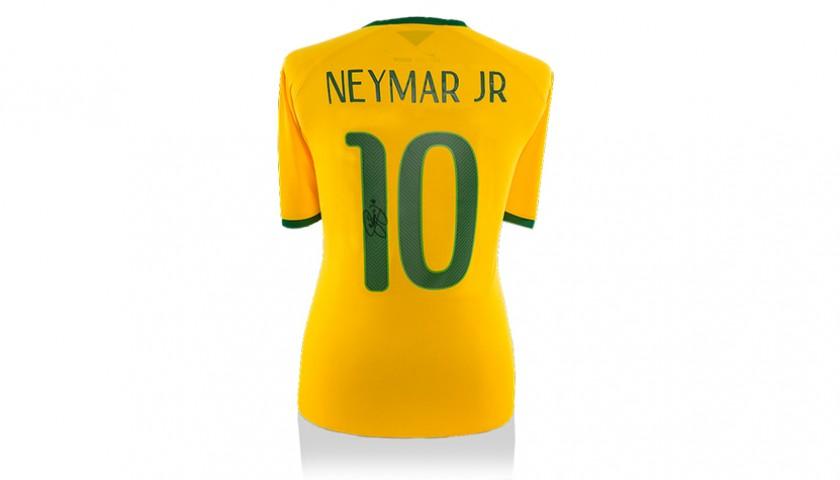 32fb74df8 Signed Neymar Jr. Brazil Soccer Jersey - CharityStars