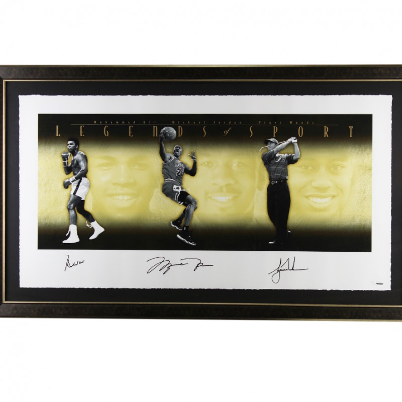Jordan, Ali & Woods Legends of Sports Limited Edition Signed Framed Photo