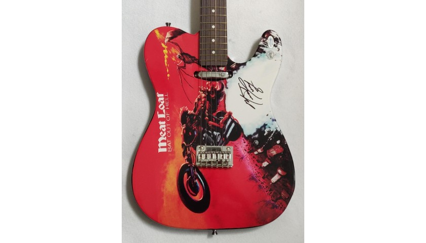 Meatloaf Autographed Electric Guitar