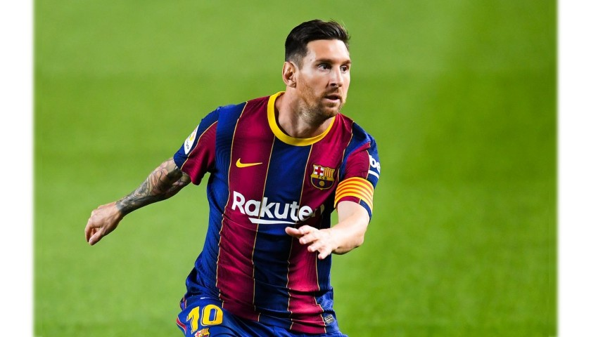 Messi's Barcelona Match Shirt, 2020/21