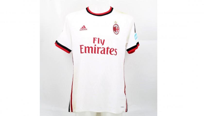 Bonucci's Signed Match-Worn Napoli-Milan Shirt with UNICEF Patch