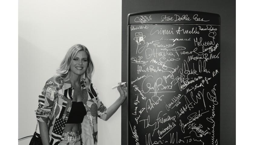 Unique Work of Art - Bompani Fridge Signed by 105 celebrities