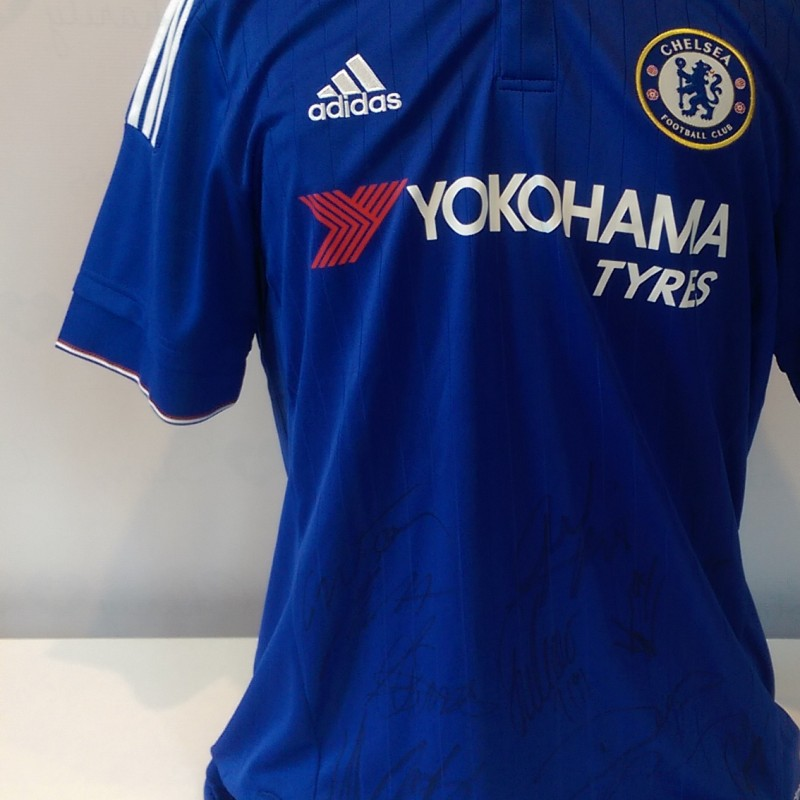 Chelsea 2015-2016 Shirt Signed by Members of the Squad