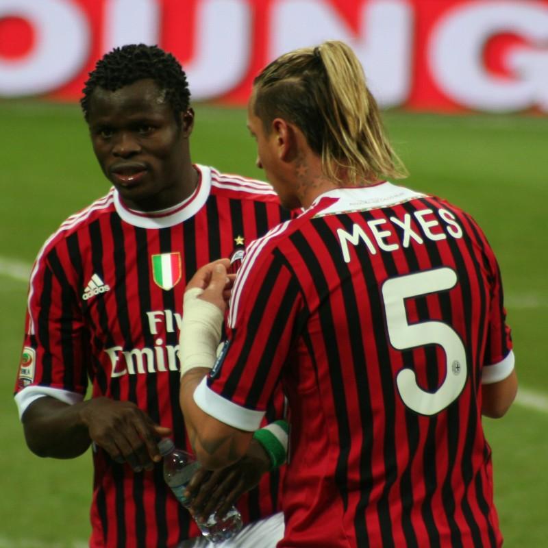Mexes' Match-Worn Milan Shirt, Serie A 2011/12