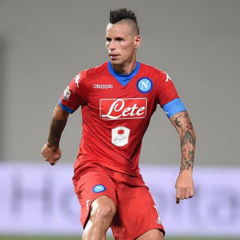 Hamsik's Napoli Worn and Signed Shirt, 2015/16 - Unwashed