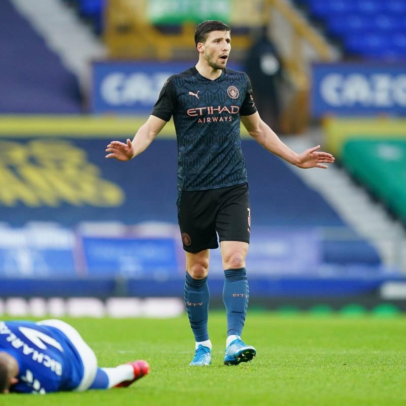 Dias' Manchester City FA Cup Away Signed Shirt