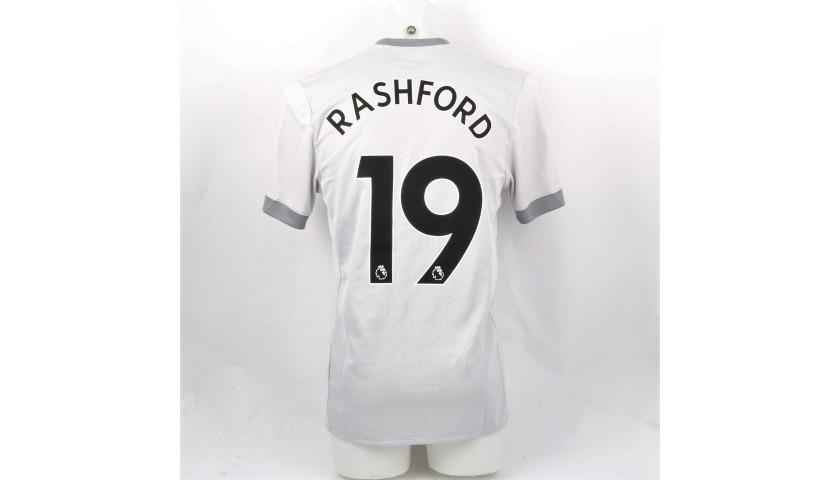 factory price 3b215 bf634 Rashford's Match-Issue/Worn Manchester United Shirt, PL 2017/18 -  CharityStars