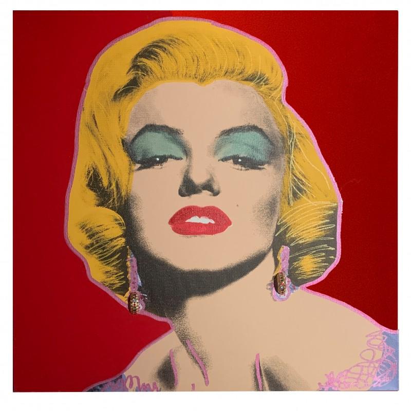 """Marilyn Monroe, Real Earrings - Lilac"" by Steve Kaufman"