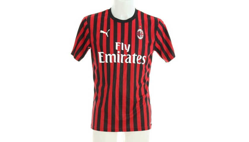"""Conti's Worn and Signed Shirt, Juventus-Milan - """"Andrà Tutto Bene"""""""