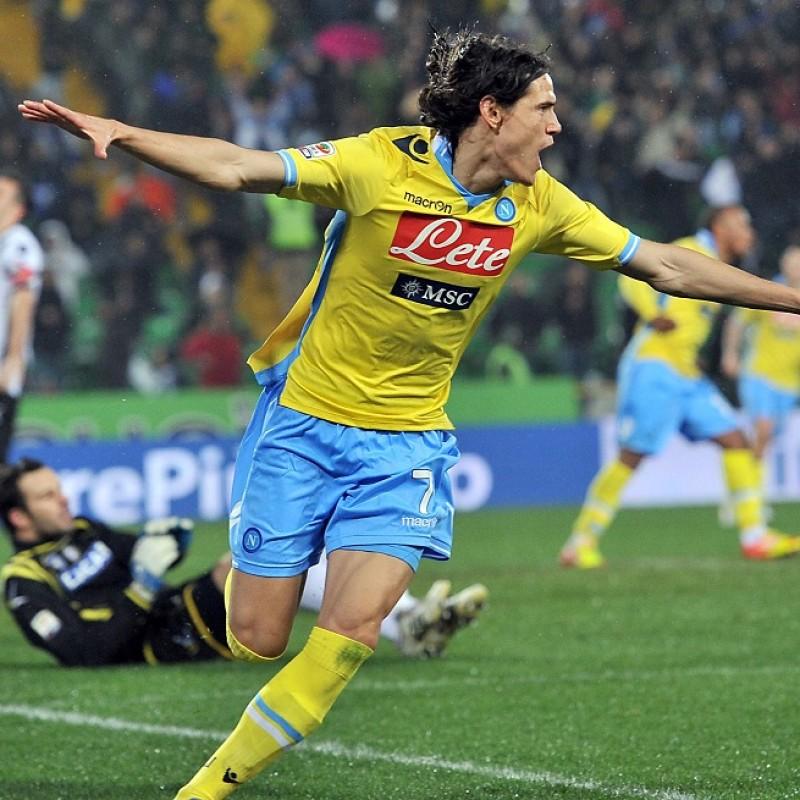 Cavani's Napoli Worn and Signed Shirt, 2011/12