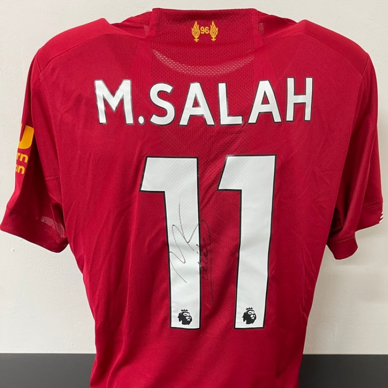 Salah's Official Liverpool Signed Shirt, 2019/20