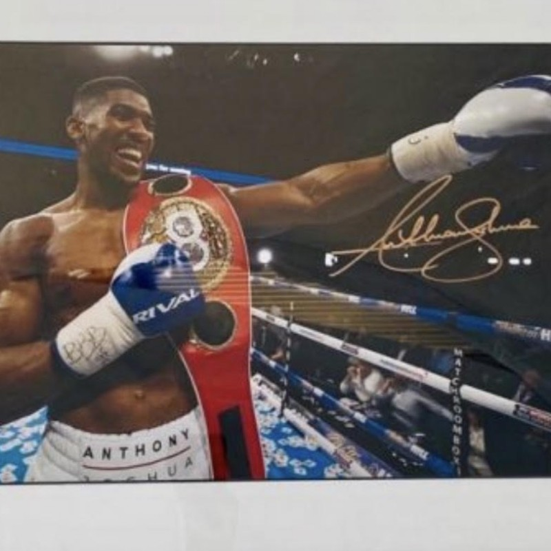 Anthony Joshua Signed Framed Picture