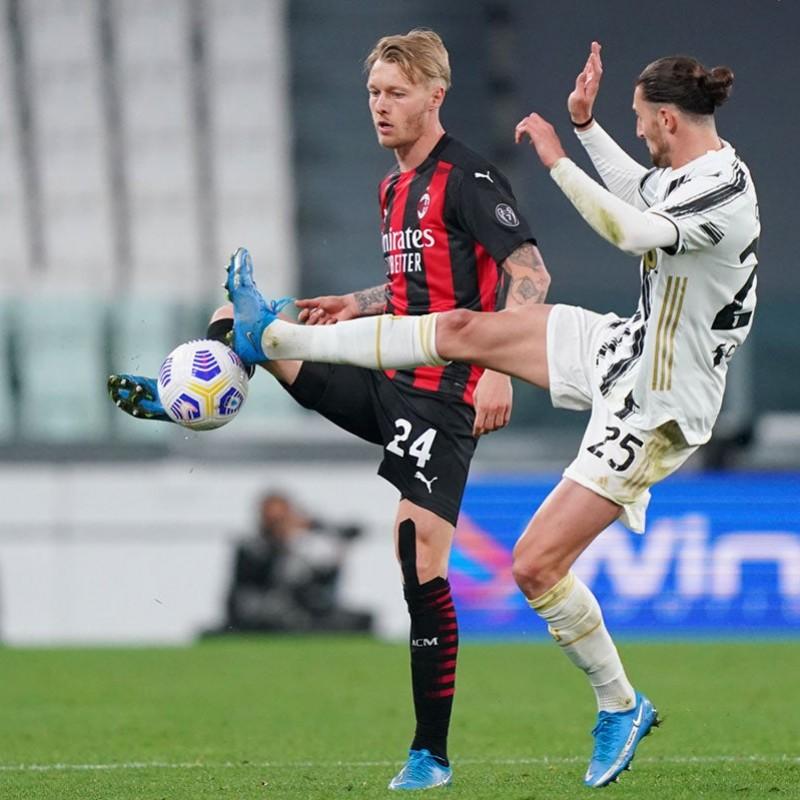 Kjaer's Worn Shirt, Juventus-Milan 2021