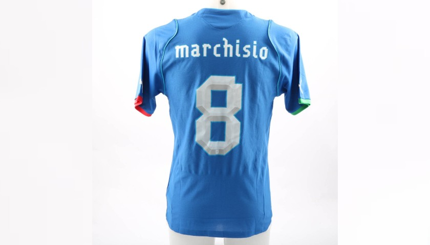 Marchisio's Match-Issue Shirt, Brazil-Italy 2013