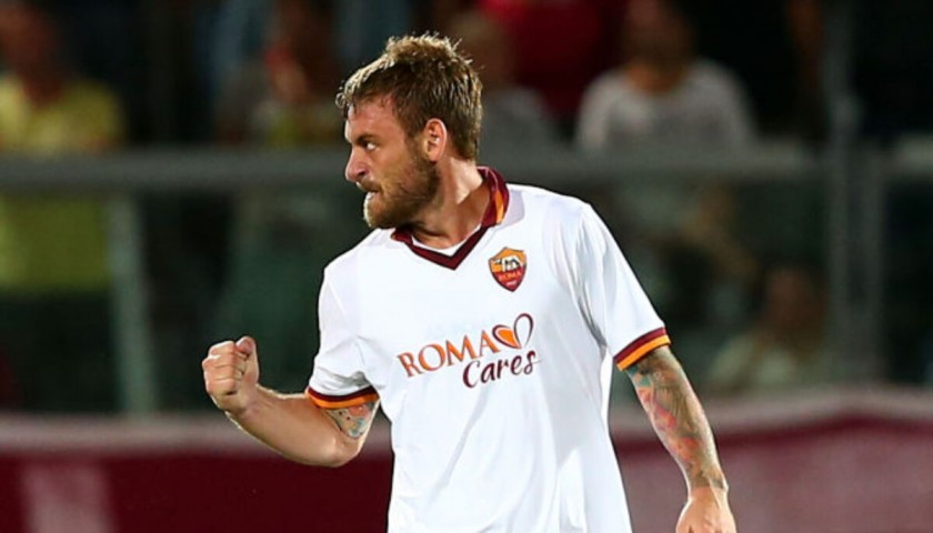 De Rossi's Roma Signed Match Shirt, 2013/14