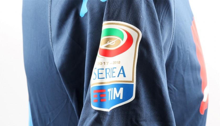 Mertens' Match-Issued/Worn Napoli Shirt, Serie A 2017/18