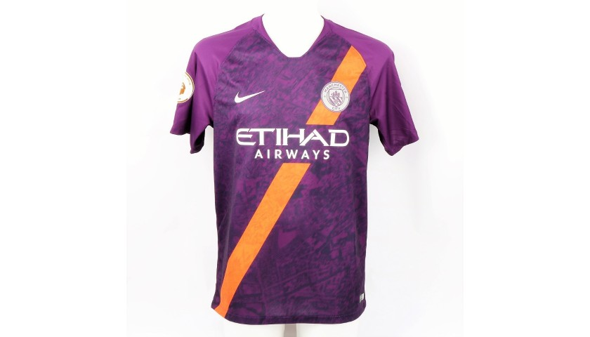 Aguero's Official Man City Signed Shirt, 2019