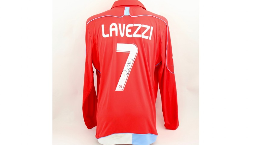 Lavezzi's Napoli Worn and Signed Shirt, 2008/09