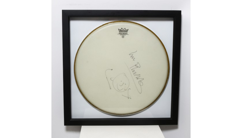 Phil Collins Signed and Framed Drum Head