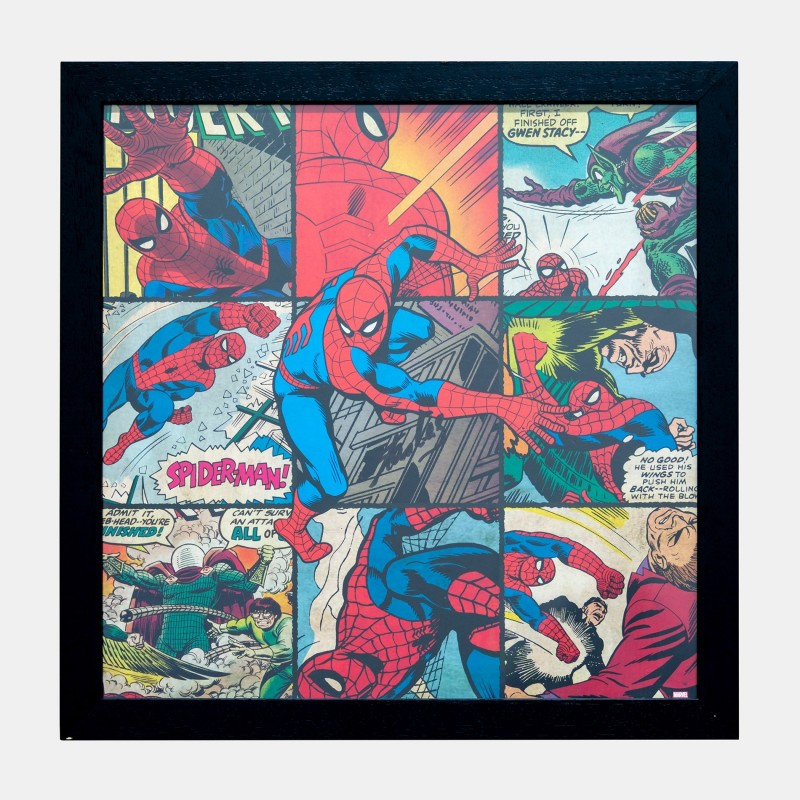Spider-Man Montage Signed by Stan Lee