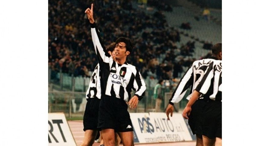 fonseca 39 s juventus serie a 1997 98 match worn shirt charitystars. Black Bedroom Furniture Sets. Home Design Ideas