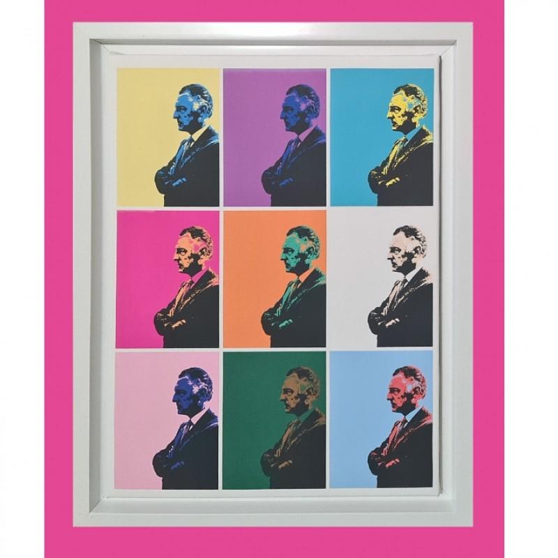 Gianni Agnelli - Artwork on Canvas by Gabriele Salvatore