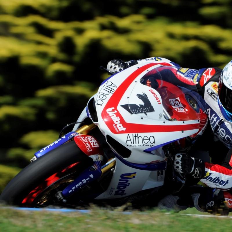 Carlos Checa worn racesuit, 2010 Superbike World Championship