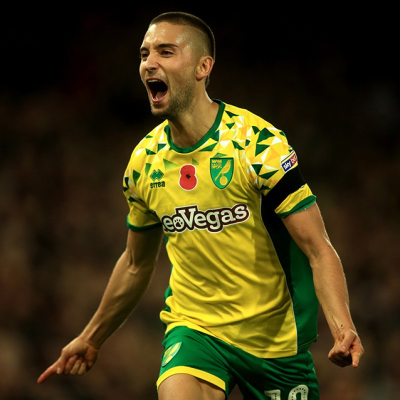 Leitner's Worn and Signed Norwich City Poppy Shirt