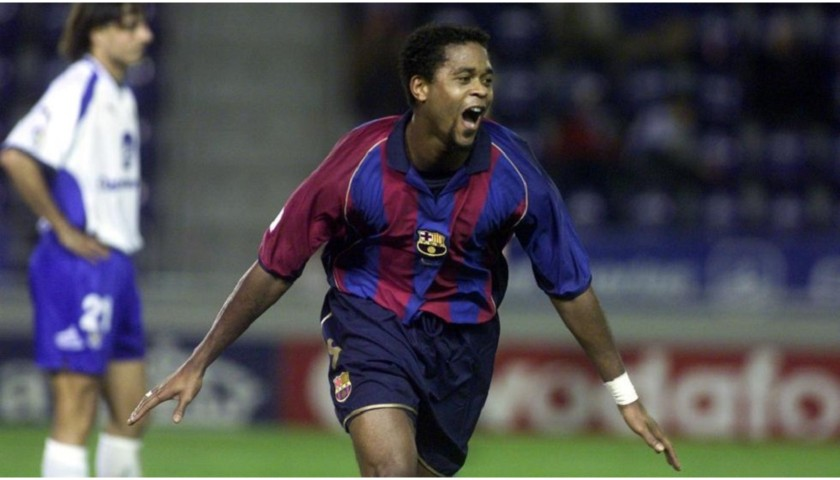 Kluivert's Official Barcelona Signed Shirt, 2001/02