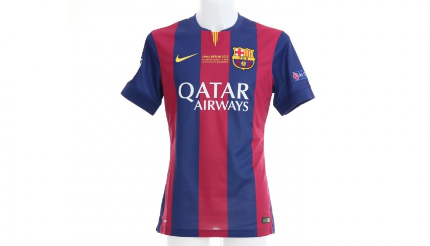 Mascherano's Barcelona Match Shirt, Berlin Final 2015