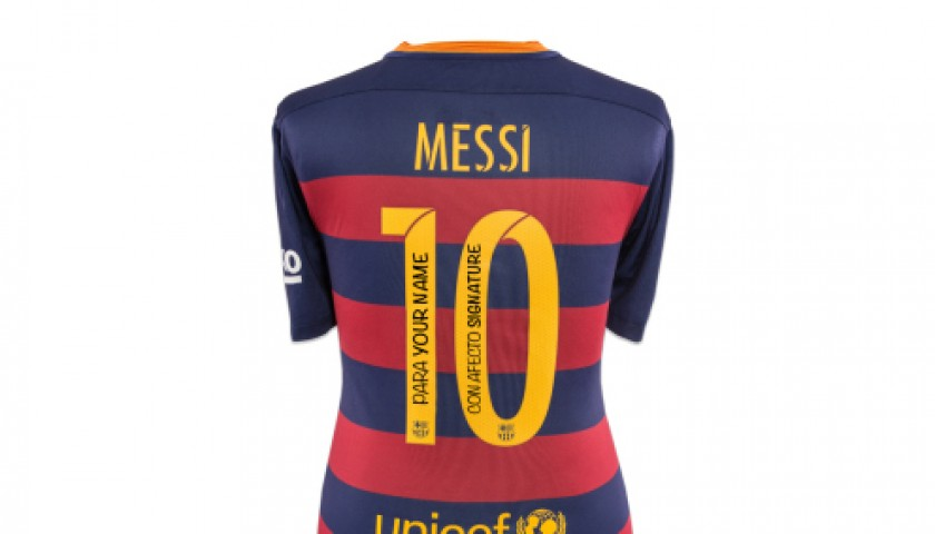competitive price aafeb 80109 FC Barcelona Shirt with Personal Dedication from Lionel Messi - CharityStars