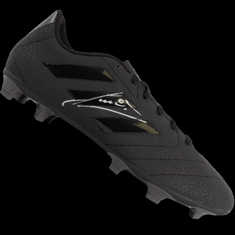 Ruud Gullit Signed Black Adidas Blackout Boot
